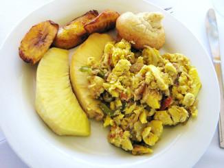 Ackee & Salt fish with Breadfruit